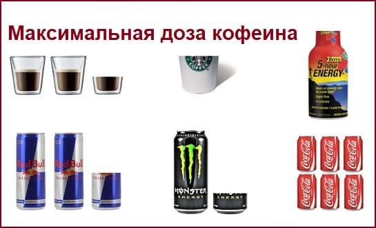 Максимальная доза кофеина в сутки