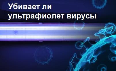 Убивает ли ультрафиолет вирусы