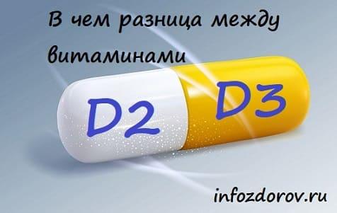 Чем отличается витамин Д2 от Д3
