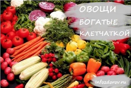 В каких овощах много клетчатки