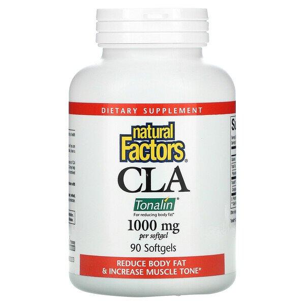 Natural Factors, CLA Tonalin, 1000 мг, 90 мягких таблеток